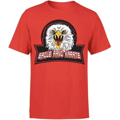 Cobra kai fang eagle t-shirt unisexe - rouge - xl - rouge